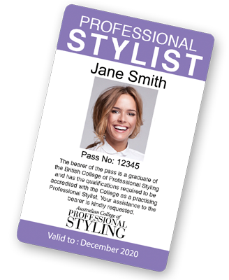 Professional stylist ID sample